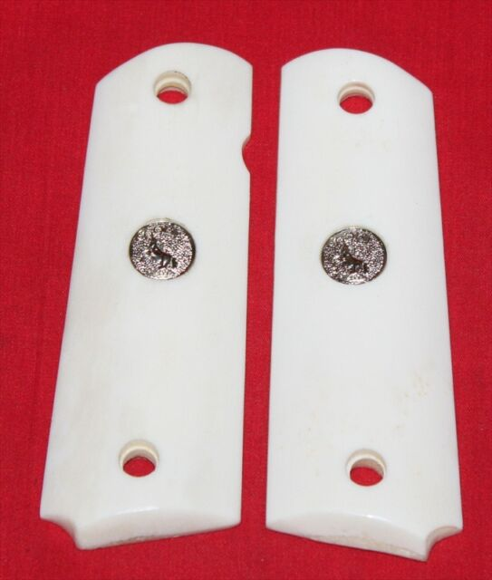 Colt Firearms Full Size 1911 Smooth Ivory Look Grips made from Real Bone