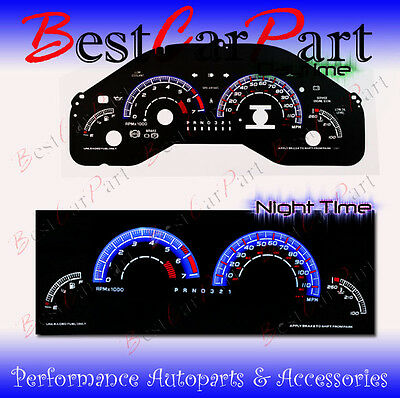 BLACK 97-03 Pontiac Grand Prix INDIGLO GLOW BLUE/WHITE EL REVERSE GAUGES