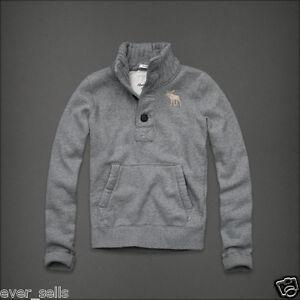 NWT-100-M-Abercrombie-Fitch-Men-Cascade-Lakes-Flagship-Mock-Sweatshirt-Sweater