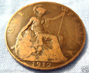 1912-PENNY-RMS-TITANIC-COIN-British-English-London-Vintage-Old-Antique-Ship-UK