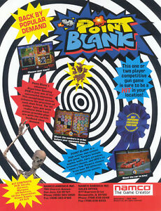 1994-NAMCO-POINT-BLANK-VIDEO-FLYER-MINT