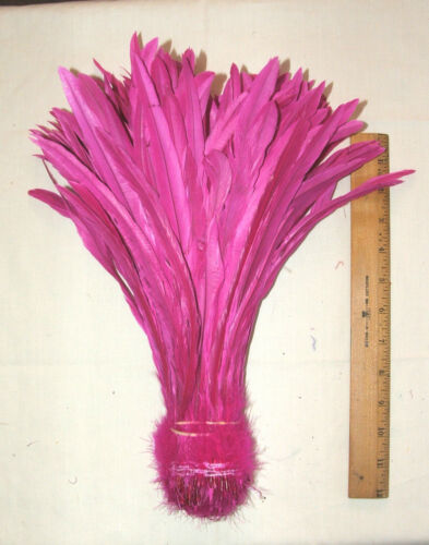 "1//4 lb Dyed Rooster Tail Feathers 12-14/"" L 9 colors available 297 approx count"
