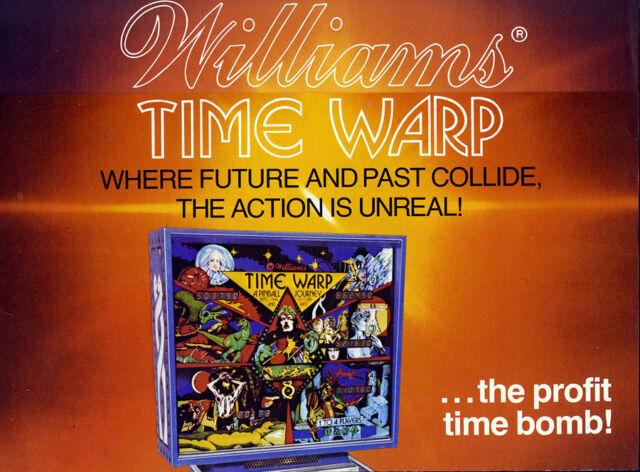 Williams time warp pinball cpu rom chip set