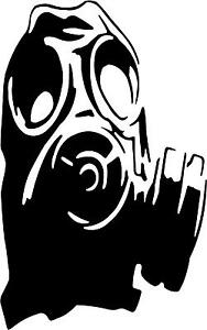 Gas-Mask-Hood-Decal-3-75-034-x6-034-choose-color-vinyl-sticker
