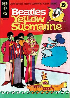 BEATLES YELLOW SUBMARINE COMIC COVER A3 POSTER AMK1540