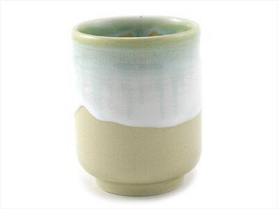 "Japanese 3.75""H Porcelain Tea Sushi Juice Coffee Cup Unofu Kake, Made in Japan"