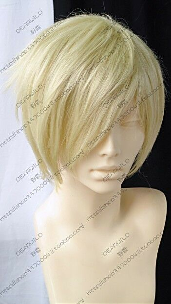 075 New Short Light-Blonde Fashion Straight Wig