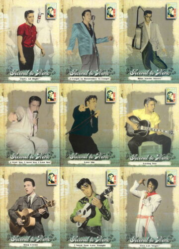 ELVIS THE MUSIC 2007 PRESS PASS COMPLETE BASE CARD SET OF 81 PRESLEY