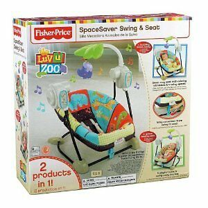 Fisher-Price-T8377-Luv-U-Zoo-SpaceSaver-Swing-amp-Seat