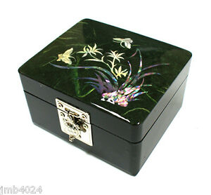 Mother-of-pearl-jewelry-box-trinket-ring-storage-case-butterfly-orchid-design