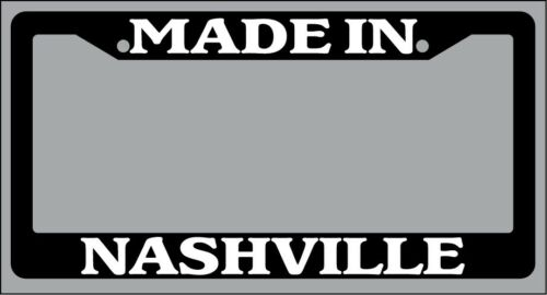 """Black License Plate Frame /""""Made in Nashville/"""" Auto Accessory Novelty 2392"""