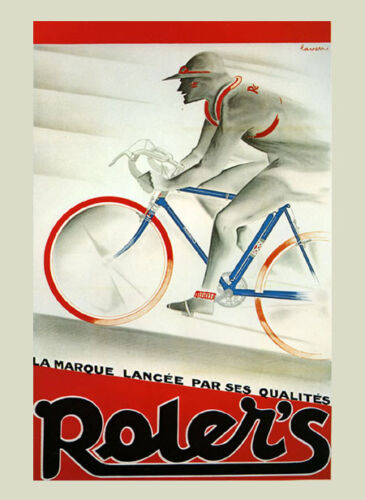 Olympic Bicycle Cycles Race Roler's France French Vintage Poster Repro FREE S/H