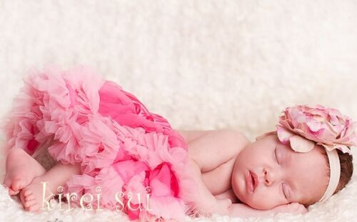 Halloween Girls Newborn Baby Hot Light Pink Pettiskirt Tutu Photo Prop NB-6M