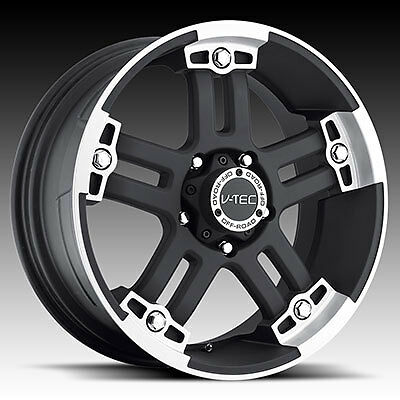 "17"" Vision V-Tec Warlord Black Wheels Rims 8x6.5 8 Lug Chevy GMC HD Truck"