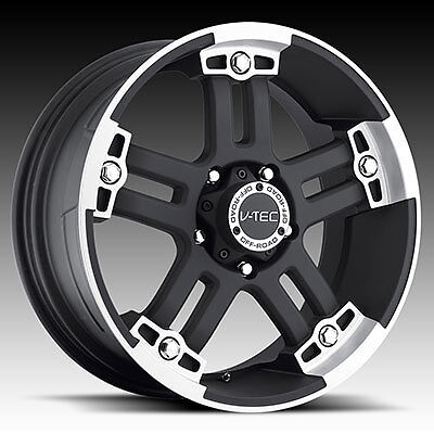 "17"" Vision V-Tec Warlord Black Wheels Rims 8x6.5 8 Lug Chevy GMC HD Truck"