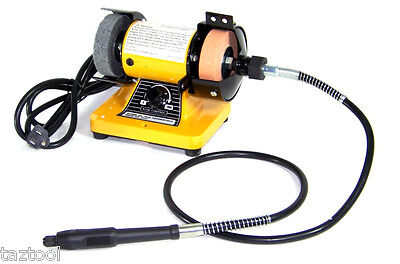 "3"" Mini Bench Grinder With Rotary Flexible Shaft Die Carving set"