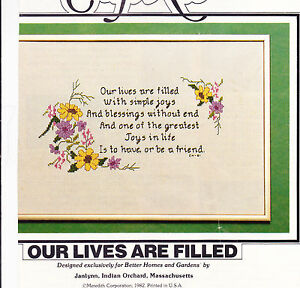 Counted-Cross-Stitch-Kit-Our-Lives-are-Filled-With-Simple-Joys-5-x-10