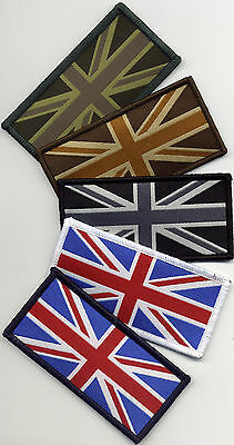Union Jack UK Flag Badge Patch Velcro Back 9.8cmx4.9cm