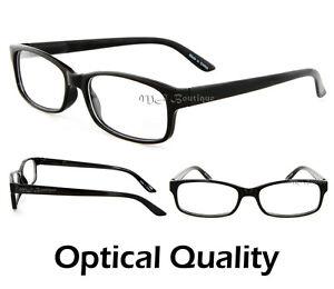 Thin Frame Black Glasses : MJ Eyewear Thin Frame Small Black Glasses Nerdy Reader ...