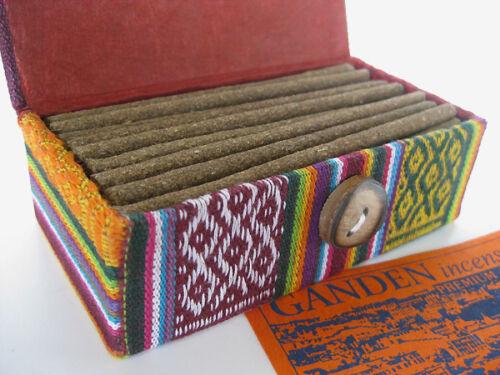 Ganden Incense ~ Tibetan handmade herbal sticks, beautiful reusable handmade box