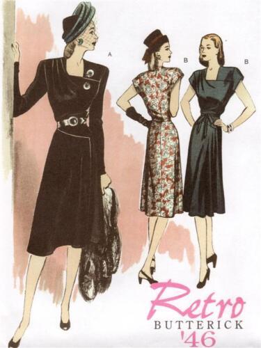 Butterick B5281 SEWING PATTERN 6-12 Fab Vintage/Retro Dress Belt 40s 50s WWII