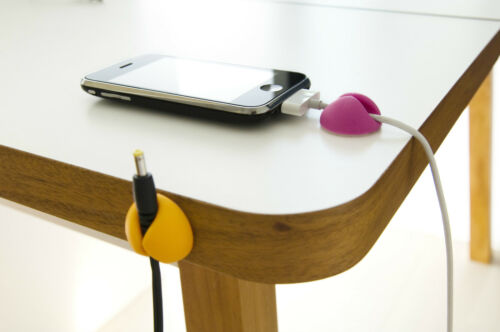 BlueLounge CableDrop holds power /& peripheral cables in place Clip Cable Drop