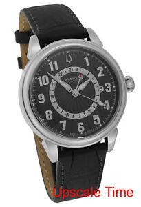 Bulova-Accutron-Gemini-Automatic-GMT-Date-Men-039-s-Luxury-Watch-63B012