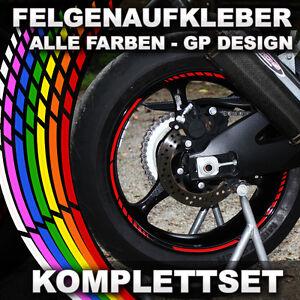 Felgenaufkleber-Felgenrandaufkleber-GP-DESIGN-Auto-amp-Motorrad-viele-Farben-NEU