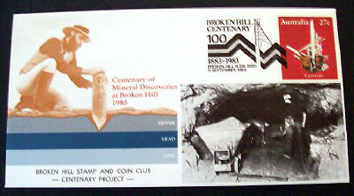 1983 Broken Hill PSE overprinted Broken Hill Stamp Club with special cancel.