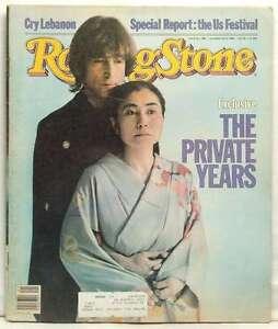 Rolling Stone Magazine Issue 380 John Lennon Yoko Ono