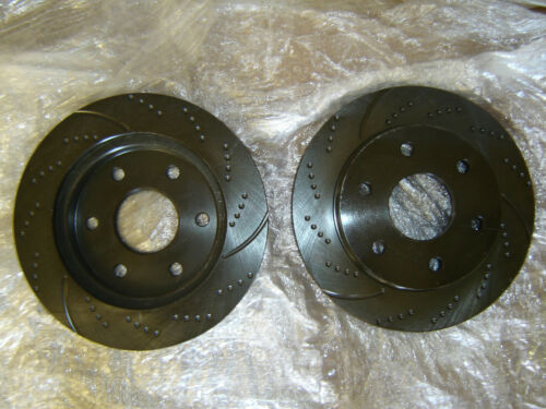 (REAR SET) 31294DS Performance Sport Dimpled Slotted Brake Disc Rotor