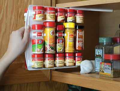 "SpiceStor Organizer Spice Rack 40 Clip 10""D x 10""H FREE Shipping"