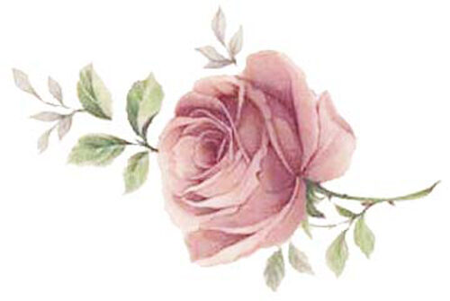 SHaBbY SoFT MauVe CoTTaGe RoSeS WaTerSLiDe DeCALs