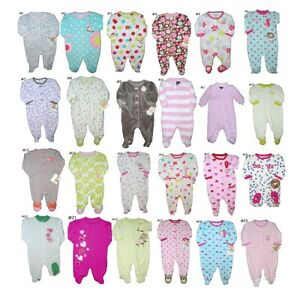 BABY-GIRLS-SLEEP-PLAY-OUTFIT-CLOSED-IN-FEET-EASY-ENTRY-NWT-PREEMIE-to-9-MO