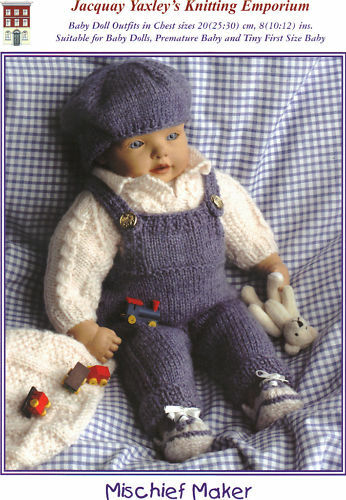 Vorzeitige Baby Outfits jacquay Yaxley Strick Muster für Baby Doll