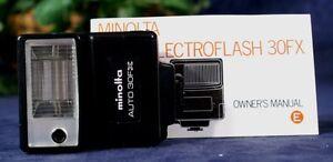 EUC-MINOLTA-AUTO-30FX-Flash-with-Case-Manual