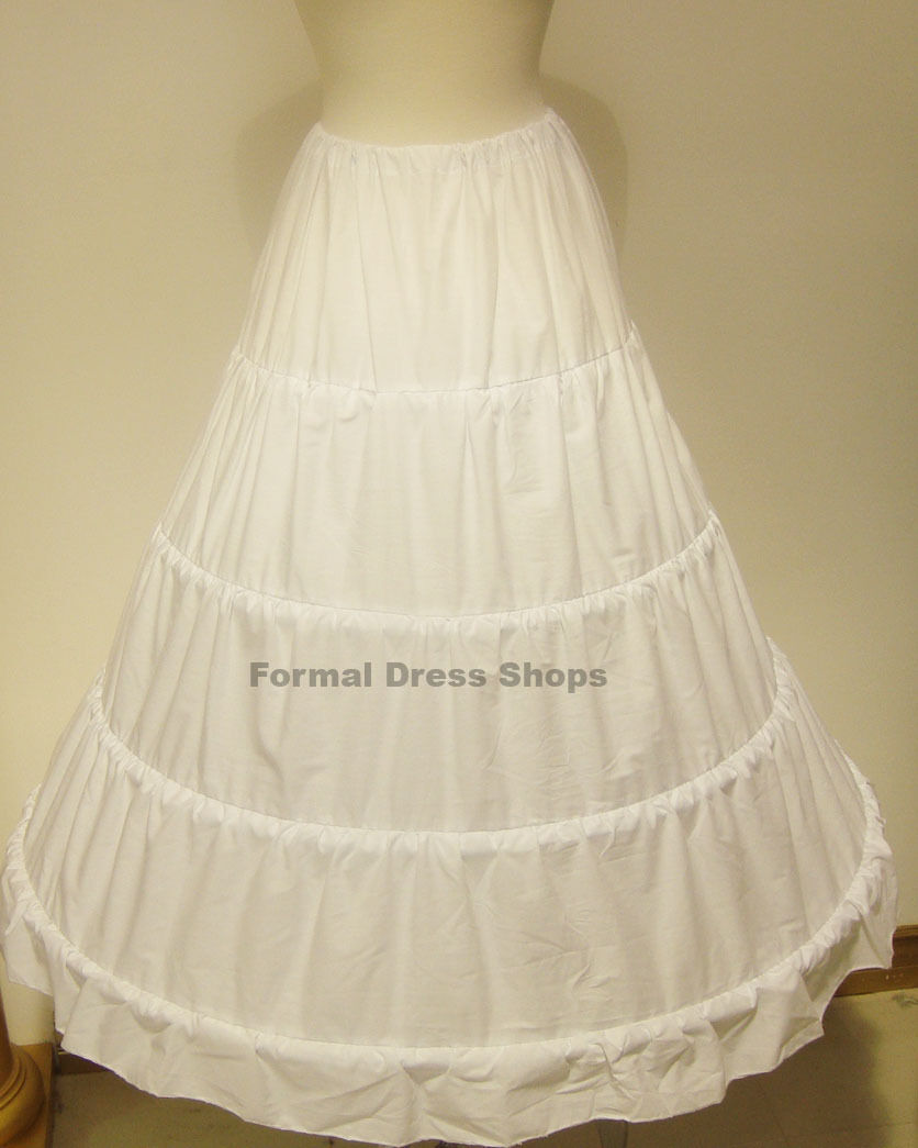 Used Plus Size Ball Gowns: PETTICOAT UNDERSKIRT CRINOLINE 5 HOOP WEDDING BALL GOWN