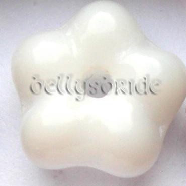 20 6-7mm Verre Tchèque Fleurs Bijoux Making Espaceur Perles assortiment
