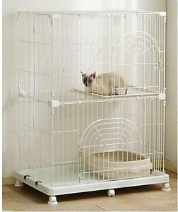 Wire-Small-Animal-Cage-PEC-902-Cat-Cage-Cat-Tower-WHITE-301498