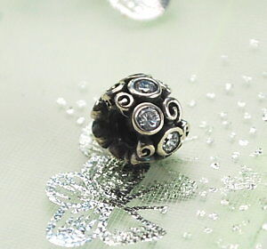 AUTHENTIC-PANDORA-STERLING-SILVER-Primrose-Path-790330-CZ-CLEAR-CHARM-BEAD-NEW