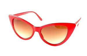 Red-Pointer-Vintage-Cat-eye-Hot-Chic-Mod-50-039-s-60-039-s-70-039-s-80-039-s-Sexy-SUNGLASSES