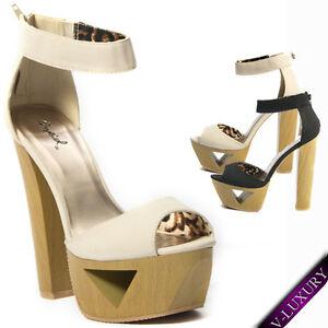 Women-High-Heel-Party-Shoe-Sandal-Platform-Wedge-Slingback-OpenToe-Ankle-T-Strap