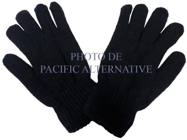 1 Paire De Gants Noir En Laine Pour Homme Hiver Froid Man Gloves Black Cold Neuf Sabor Puro Y Suave