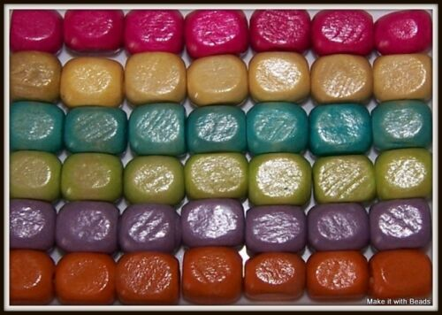 Mixed Wood Wooden Craft Beads U Pick Colour Size Shape Free UK P/&P Offer