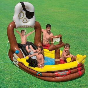 INTEX-Pirate-Adventure-Ship-Play-Center-Kids-Inflatable-Pool-57133EP