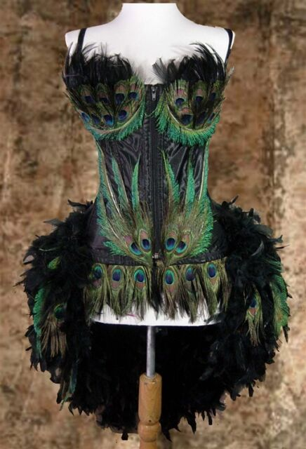 D&D Moulin/Showgirl/Peacock/Feather/Carnival Circus Bird Burlesque Costume