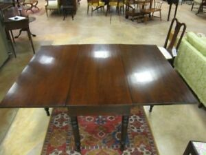 Antique-American-Cherry-Wood-Drop-Leaf-Table