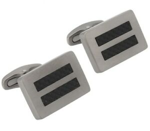 Titanium-Carbon-Fibre-Oblong-Cufflinks