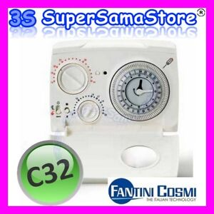 3s cronotermostato a cavalieri c32 fantini cosmi for Termostato fantini cosmi c32