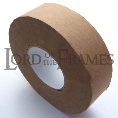 200m x 50mm Gummed Paper Brown Paper Tape Picture Framing Canvas / Gum Wet